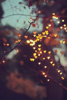 Glowing hearts.