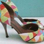 Customização de sapato com retalhos