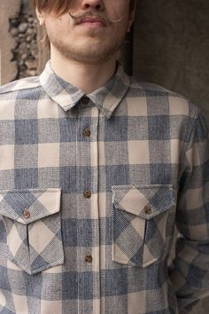 when we say double pocket, we mean double pocket! shirt in Washougal plaid, shot courtesy of Shop Adorn
