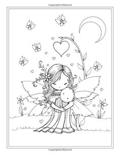 Whimsical World Coloring Book: Fairies, Mermaids, Witches and More! Bear Coloring Pages, Fairy Coloring Pages, Doodle Coloring, Coloring For Kids, Printable Coloring Pages, Adult Coloring Pages, Coloring Books, Digi Stamps, Copics