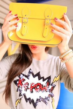 Our sunny Yellow satchel-kapow indeed!