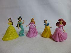 Disney Princess PVC Figure Cake Topper Lot of 5 #Disney