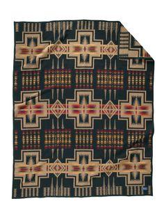 Harding Black Pendleton Blanket