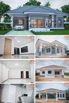 That Gray Bungalow With Three Bedrooms Pinoy Eplans Desain Eksterior Rumah Denah Rumah Desain Exterior Rumah