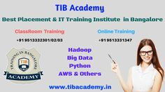 TIBAcademy is a Leading IT Training and Placement Training Institute in Bangalore. We offer Trending software Courses like AWS, Python, Hadoop, Bigdata, R Programming, Selenium, Java, Oracle, Teradata, Salesforce, AngularJS, Web Designing,etc.