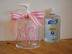 How about hand sanitizer in a mason jar instead?