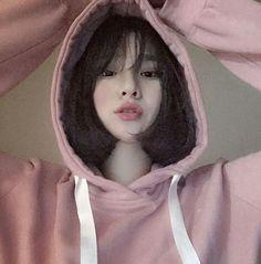 girl, korean, and pink image