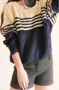 $33.00 | Loose round neck pullover ZZ1024BI