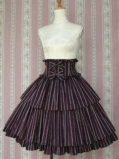 Victorian Maiden | Regimental Stripe Doll Skirt