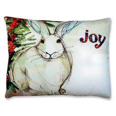 Bunny Indoor/Outdoor Decorative Throw Pillows