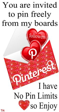 You are invited to pin freely from my Pinterest boards... I have No Pin Limits so Enjoy ♥ Tam ♥