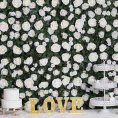 Flower Wall Backdrop, Floral Backdrop, Wall Backdrops, Flower Wall Decor, Flower Wall Wedding, Wedding Backdrops, Silk Roses, White Roses, White Silk