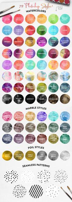 The Watercolor Media Kit (For PS) by MakeMediaCo. on Creative Market
