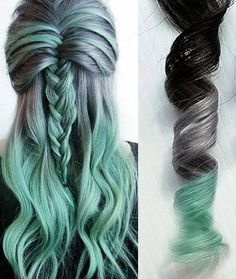 ¸,ø¤º°`°º¤øøø••Silver Mint-:¦:-•:**:•.-:¦:- These pieces are professionally hand colored! *sample size me hair is limit 2 pieces per color combination - Looking for affordable hair extensions to refresh your hair look instantly? http://www.hairextensionsale.com/?source=autopin-pdnew