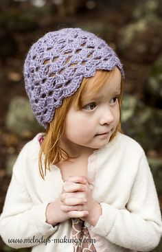 Beautiful and dainty crochet hat pattern.  Includes all sizes Newborn through Adult.