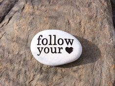 Engraved Stone, Follow your Heart Custom by StoneEffectsMD on Etsy, $18.00