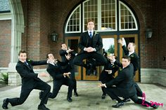 this is the best groomsmen shot i ever saw. what kind of magic is this?!?