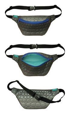 lukola handmade: Nerka pikowana w koła // Quilted hip bag