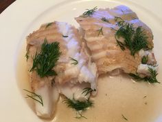 Halibut with dill!