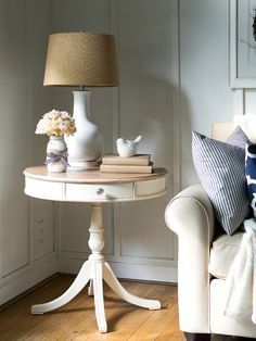 Drum Table Makeover with Chalk Paint