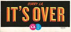 Bye LA #typography