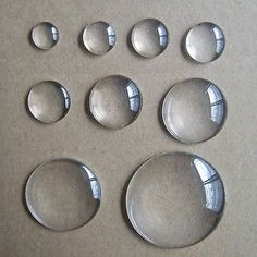 - Clear Crystal Round Cabochon Flat Back Glass Dome Tile Jewellery Making & Garden Clear Crystal, Clear Glass, Round Glass, Realistic Drawings, Art Drawings, Hand Art, Glass Domes, Fabric Painting, Art Techniques