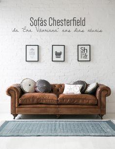 O charme do sofá Chesterfield. Veja mais: http://www.casadevalentina.com.br/blog/materia/sof-s-chesterfield.html  #decor #decoracao #sofa #moveis #Chesterfield #interior #design #living #casadevalentina