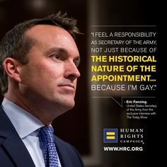 ICYMI: Eric Fanning reflects on becoming the highest-ranking, Senate-confirmed openly-LGBT appointed official.