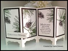 YouStamp YouShare - created by Gayle Enouen - shared by… Create Christmas Cards, Stamped Christmas Cards, Xmas Cards, Holiday Cards, Holiday Ideas, Christmas Ideas, Fancy Fold Cards, Folded Cards, Screen Cards