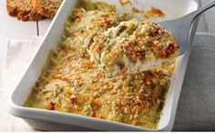 Hake bake with Mushroom Sauce 4 hake fillets about each, skinned and boned… Fish Dishes, Seafood Dishes, Fish And Seafood, Seafood Recipes, Cooking Recipes, Healthy Recipes, Shellfish Recipes, Cooking Ideas, Healthy Meals