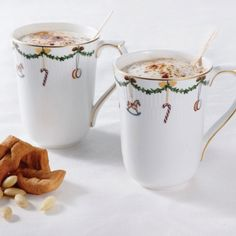 Star Fluted Christmas 2-Pack Mugs from Royal Copenhagen in Yardley, PA from Pink Daisy