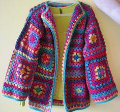 granny square cardigan -not even too much!