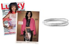 Swooning over the Rhea Bangles – Silver by Stella & Dot featured in Lucky Magazine