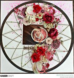 Gypsy Rose Layout and Video Tutorial by Alicia McNamara with her Design Team Inspiration for Kaisercraft Official Blog featuring the July 2018 'Gypsy Rose' Collection | PS533 Dreamer - Die Cut | PS634 Flourish ~ Gloss | SS367~ Sticker Sheet | CT941 Collectables | FL529 ~ Flourish Pack ~ Collected | F639 Cranberry Paper Blooms. Learn more at kaisercraft.com.au ~ Wendy Schultz ~ Kaisercraft Projects.
