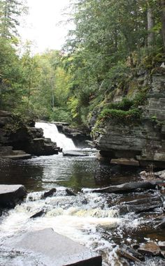 Canyon Falls Roadside Park   Travel   Vacation Ideas   Road Trip   Places to Visit   L'Anse   MI   Hiking Area   Zoo   City Park