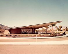 Palm Springs mid-century architecture. Was a petrol station, now the tourist information bureau