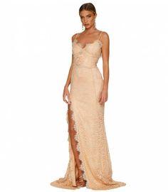 fea39019e7e6 Elegant Spaghetti Strap Split Long Party Dress Women Vintage Open Back  Formal Dresses Sexy Lace Dress