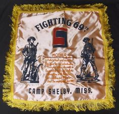 WWII-69th-INFANTRY-DIVISION-FIGHTING-69th-CAMP-SHELBY-MISS-SILK-PILLOW-COVER