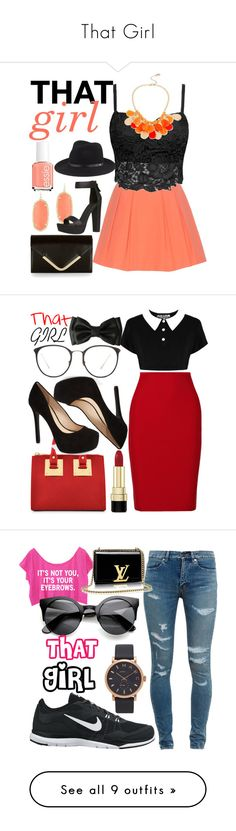 """""""That Girl"""" by egordon2 ❤ liked on Polyvore featuring thatgirl, Alice + Olivia, Kendra Scott, Essie, Accessorize, Kenneth Cole, rag & bone, Killstar, Roland Mouret and Sophie Hulme"""