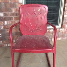 Charmant Mid Century Vintage Metal Lawn Chair. See History At  Www.midcenturymetalchairs.com