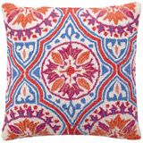 Jennifer Paganelli Back Bay Hook Pillow in Orange-Blue (also available in Pink-Brown and Blue-Green)