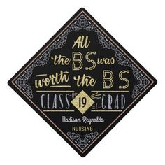 College Graduation Bachelor of Science Degree Funny BS Name Graduation Cap Toppers Easy to personalize with your name the year and your degree type You can also customiz. Funny Graduation Caps, Graduation Cap Toppers, Graduation Cap Designs, Graduation Cap Decoration, Graduation Diy, Grad Cap, Graduation Pictures, Grad Pics, Nursing Graduation