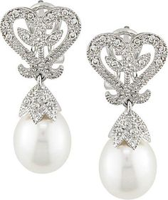Pretty but I'd like them better with crystals where the pearls are