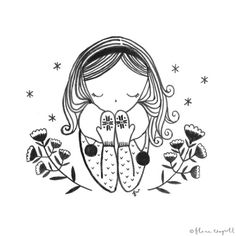 Flora Waycott - Inktober Day 10 - We are in to Spring now in NZ but I do miss my winter accessories! xx
