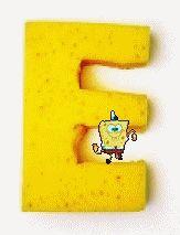 Oh my Alfabetos!: Alfabeto animado de Bob Esponja con letras hechas de esponja.