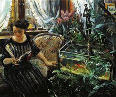 """""""Woman by a Goldfish Tank"""" 1911, - Lovis Corinth (1858-1925)"""