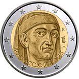 2 euro 700th Anniversary of the Birth of Giovanni Boccaccio - 2013 - Series: Commemorative 2 euro coins - Italy