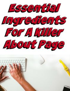 What you need for a killer about page.