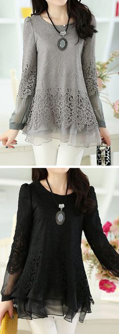Beautiful, dreamy top. The grey is really great.