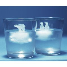 You can create ice cubes in a shape of penguins and a polar bear, cute!